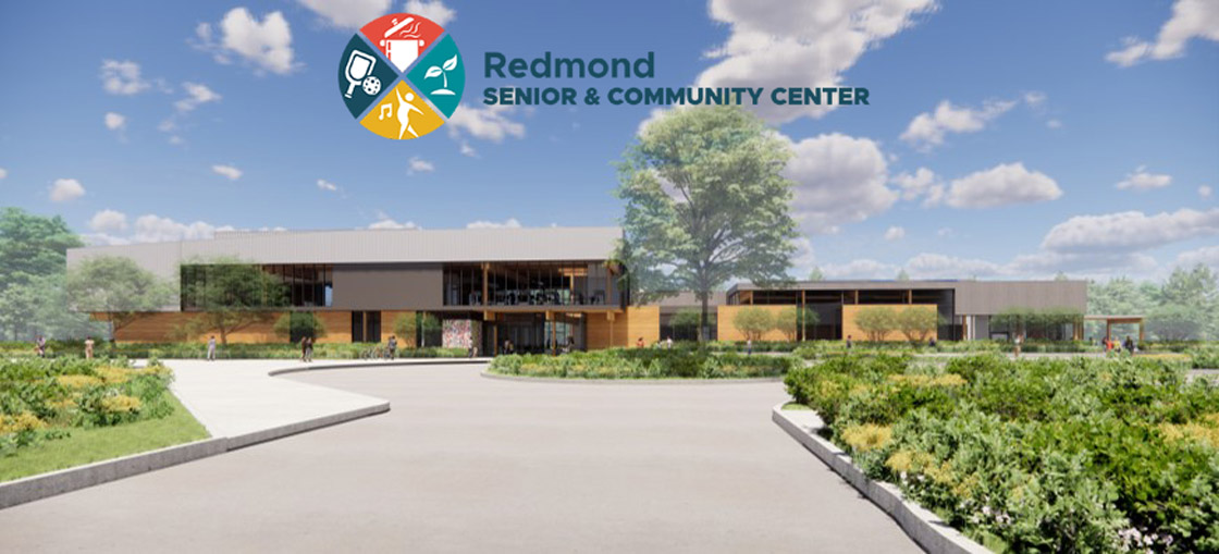 exterior view of design for the redmond senior and community center