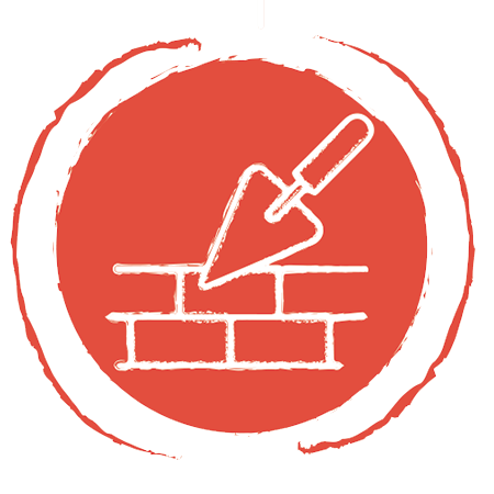 brick and trowel icon