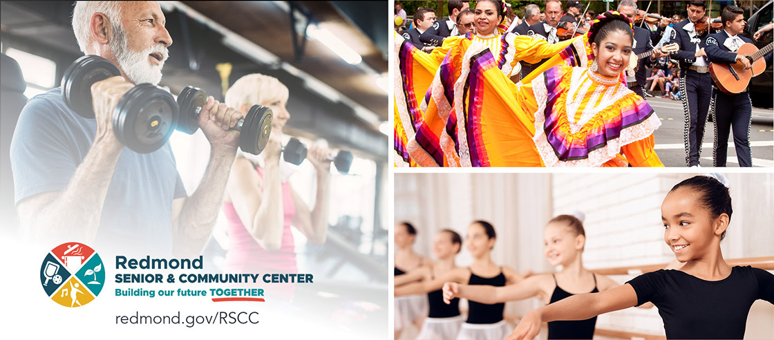 Community center activities: exercise, performance art, and ballet.