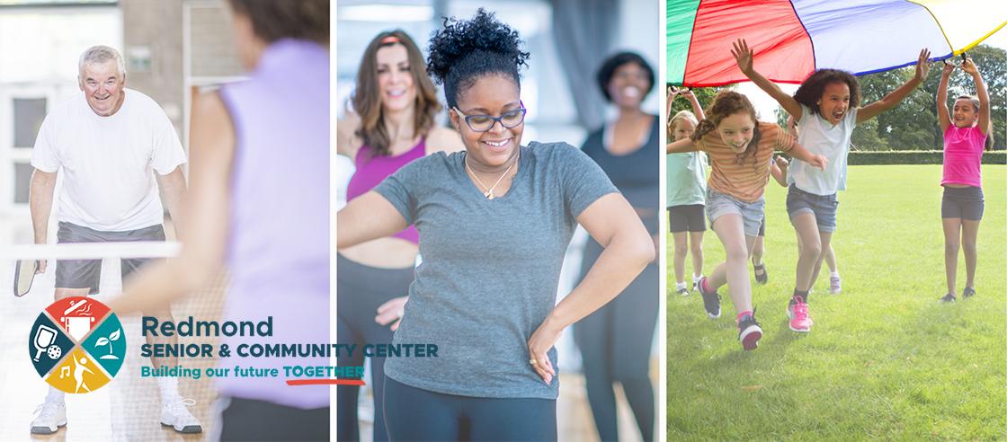 Community center activities: tennis, dance, kids activities